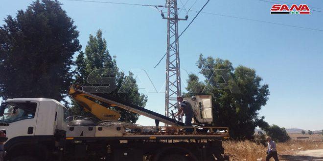 تركيب 5 محولات كهربائية في عدد من قرى القنيطرة