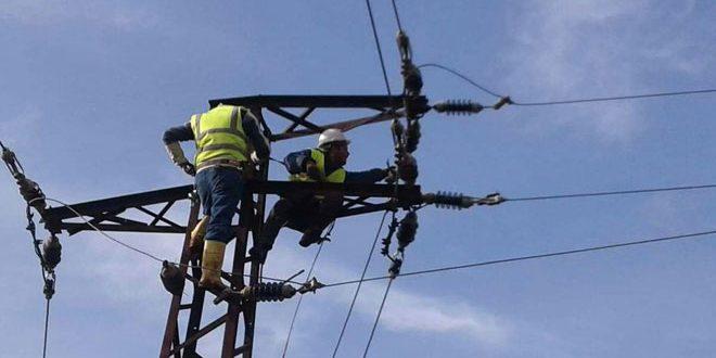 كهرباء حمص: إعادة تأهيل شبكات الكهرباء المتضررة من الإرهاب 