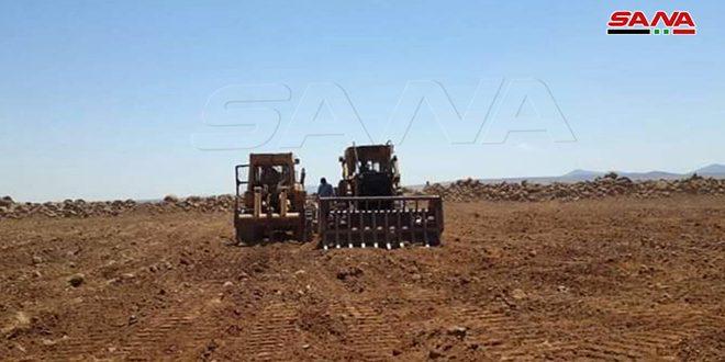 استصلاح نحو 600 دونم من الأراضي في ريف القنيطرة