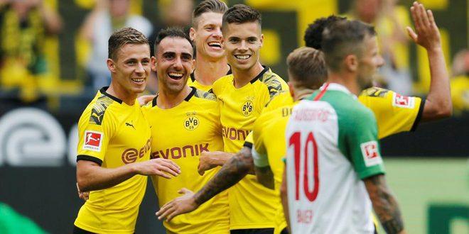 دورتموند يسحق أوغسبورغ ويرسل تحذيراً مبكراً في الدوري الألماني