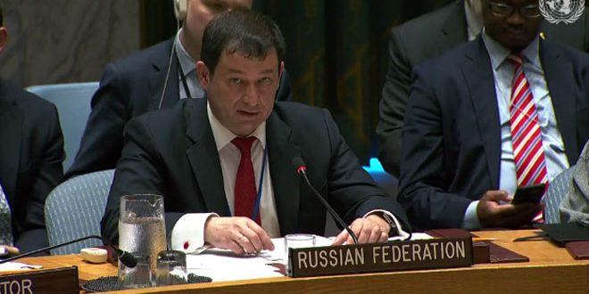 بوليانسكي: الوجود الإرهابي في سورية أمر غير مقبول