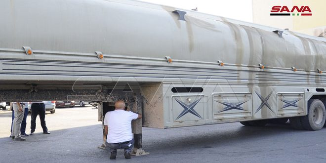 ضبط كمية كبيرة من الدخان المهرب داخل صهريج لنقل المشتقات النفطية