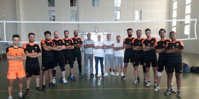فريق الوحدة يحرز لقب بطولة دوري كرة الطائرة للرجال
