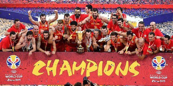 إسبانيا تحرز لقب كأس العالم لكرة السلة