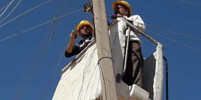حماة.. صيانة عدد من محطات التحويل والشبكات الكهربائية