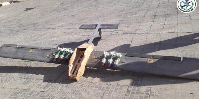 وسائط دفاعنا الجوي تتصدى لاعتداء الإرهابيين بطائرات مسيرة وتسقطها بسهل الغاب شمال غرب حماة – S A N A