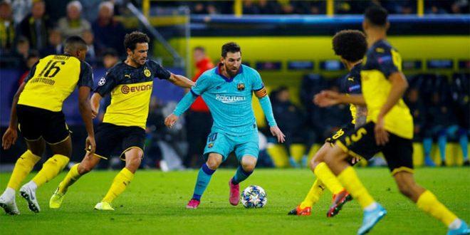 دورتموند يتعادل سلبا مع برشلونة بدوري أبطال أوروبا