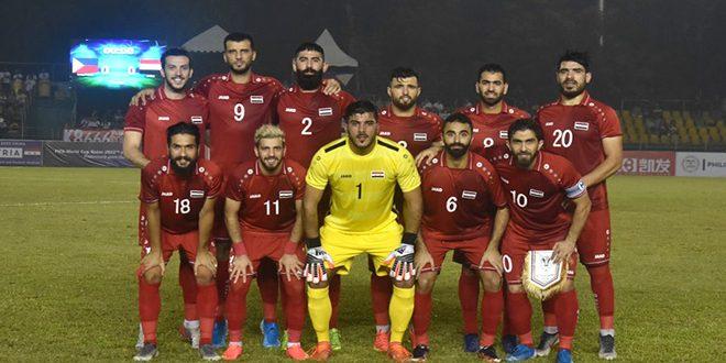 منتخب سورية لكرة القدم يتقدم مرتبتين على لائحة التصنيف الدولي