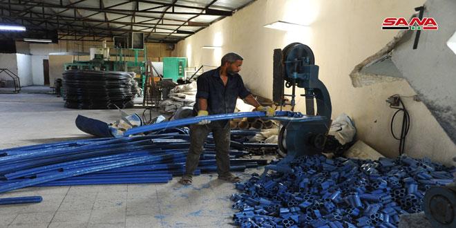 منتجات دقيقة تدخل في إعادة البناء توفرها منطقة فضلون الصناعية