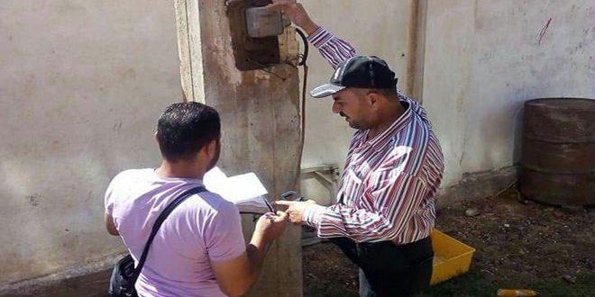 تنظيم أكثر من 1600 ضبط استجرار كهرباء غير مشروع في حمص منذ بداية العام الحالي 