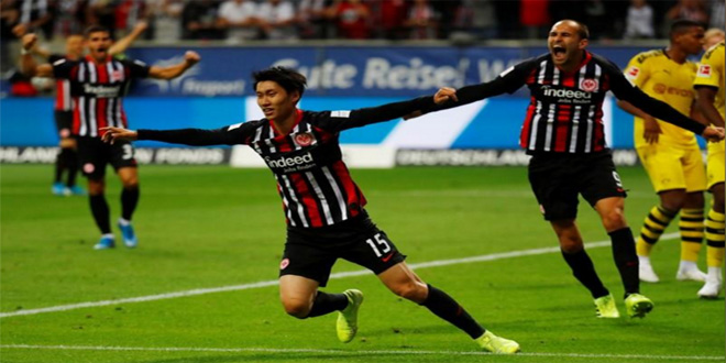 إينتراخت يتعادل مع دورتموند بدوري الدرجة الأولى الألماني