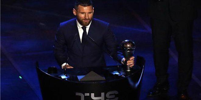 ميسي يحصد جائزة الفيفا لأفضل لاعب في العالم لعام 2019