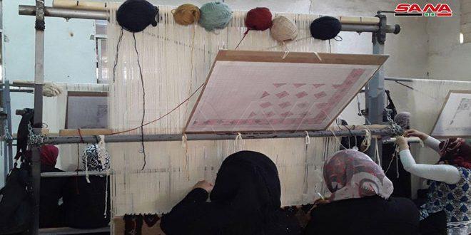 خطوات مثمرة في حماة لإحياء صناعة السجاد الصوفي