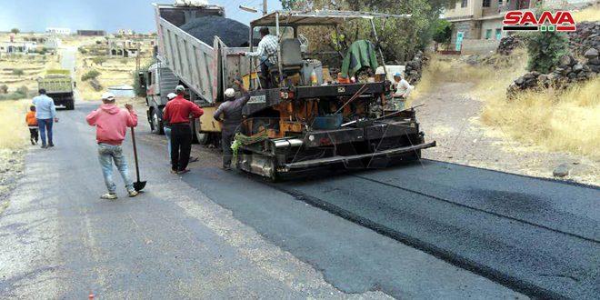صيانة وتأهيل عدد من الطرق في الريف الشرقي لمحافظة السويداء