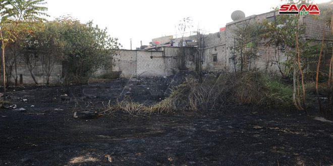إخماد حريق ببستان مهجور في منطقة الاحدى عشرية بدمشق