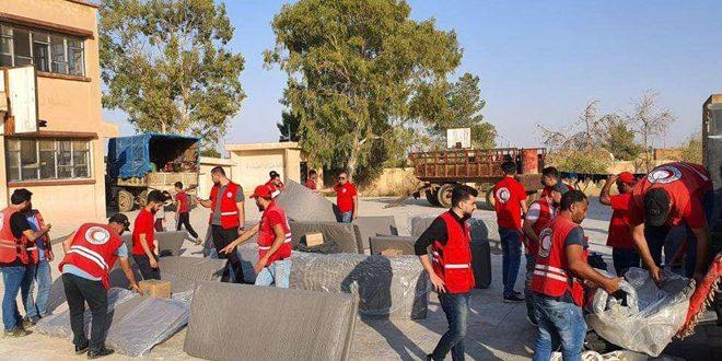 جهود إغاثية مستمرة لمساعدة الأهالي المهجرين بالحسكة