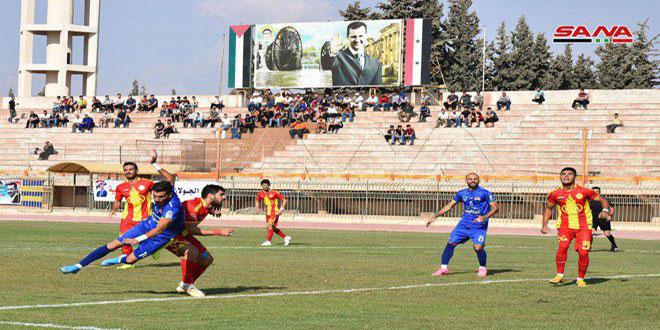 قمة مباريات المرحلة الثانية من الدوري الممتاز لكرة القدم… ديربي مدينة حماة بين الطليعة والنواعير