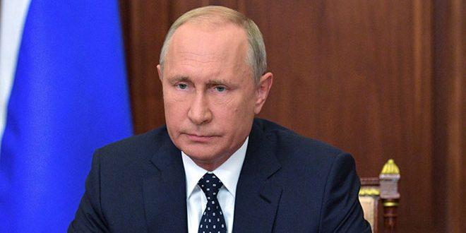 الرئيس بوتين يجدد التأكيد على احترام وحدة سورية وسلامة أراضيها