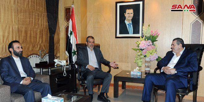مباحثات سورية إيرانية في مجال بناء وترميم وصيانة المطاحن والصوامع
