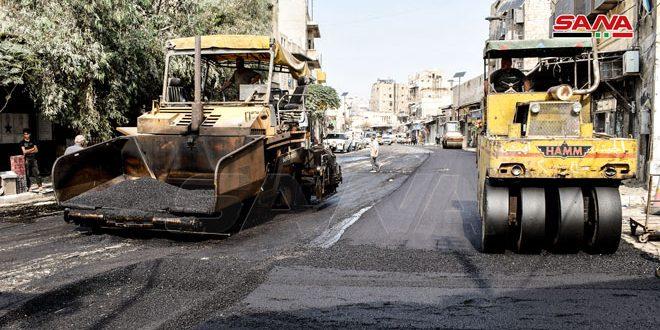 تنفيذ مشروع تعبيد أحياء حلب القديمة بقيمة 192 مليون ليرة