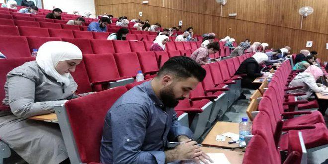إجراء الجلسة الأولى من الامتحان الطبي الموحد دورة تشرين 2019