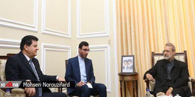 لاريجاني يجدد خلال لقائه السفير محمود دعم إيران لوحدة الأراضي السورية