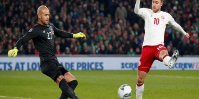 الدنمارك تتأهل لبطولة يورو 2020 بعد التعادل مع ايرلندا