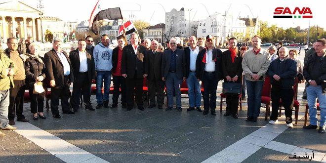 جاليتنا في هنغاريا تدين جرائم الاحتلالين الأمريكي والتركي