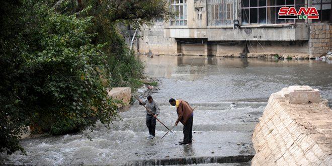 جهود حثيثة لرفع التلوث عن نهر بردى وإعادته إلى ألقه مع نهاية العام القادم