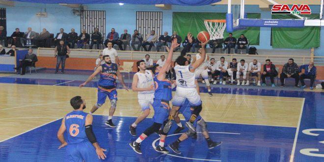 فوز الجلاء على الكرامة بذهاب دور الستة في كأس الجمهورية لكرة السلة للرجال
