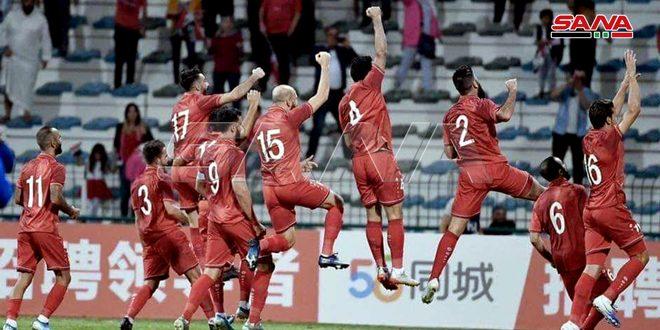 منتخب سورية يفوز على نظيره الفلبيي فى إياب تصفيات آسيا وكأس العالم ويبتعد بصدارة المجموعة الأولى