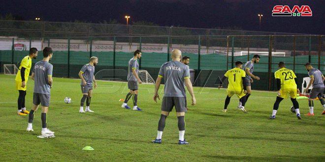 تواصل استعدادات منتخب سورية لكرة القدم للقاء الفلبين في التصفيات المزدوجة لنهائيات آسيا والعالم
