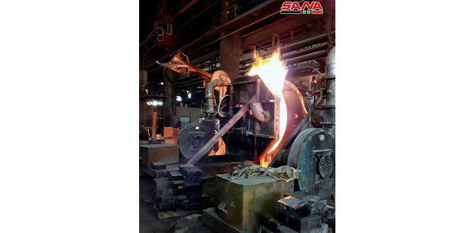 أكثر من 14 مليار ليرة… مبيعات شركة المنتجات الحديدية والفولاذية بحماة خلال 11 شهراً