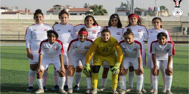 منتخب سورية لكرة القدم للناشئات يتعادل مع نظيره الأردني في بطولة غرب آسيا