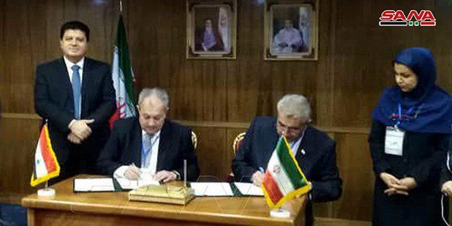 سورية وإيران توقعان مذكرة تفاهم للتعاون في مجال الطاقة المائية