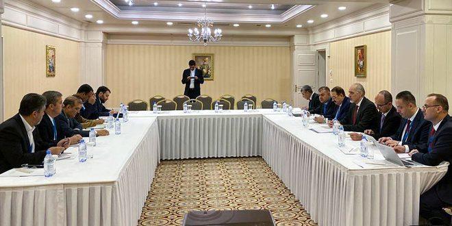 وفد الجمهورية العربية السورية إلى محادثات أستانا يعقد لقاءين مع الوفد الإيراني ووفد الأمم المتحدة