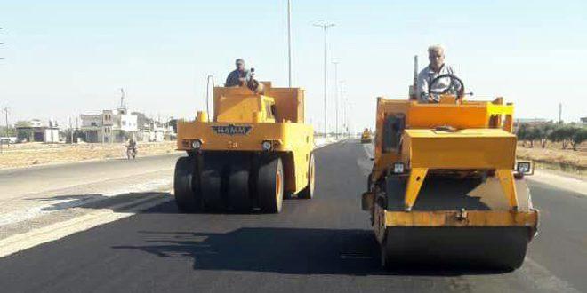 المواصلات الطرقية بحمص تنجز تأهيل أهم الطرق والجسور المتضررة بفعل الإرهاب