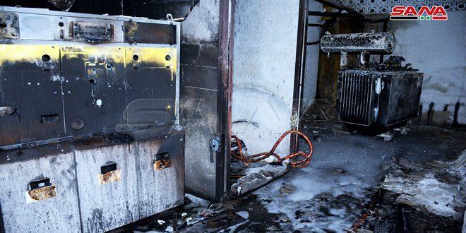 اللاذقية.. إخماد حريق في خزان كهربائي امتد إلى منازل سكنية
