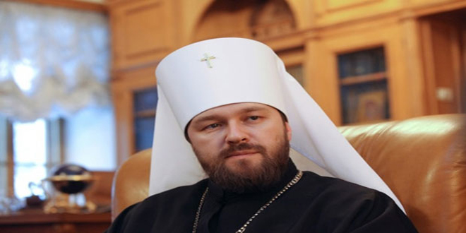 المطران هيلاريون: الكنيسة الروسية تخطط لفتح مركز في سورية لمساعدة الأطفال المصابين جراء الحرب