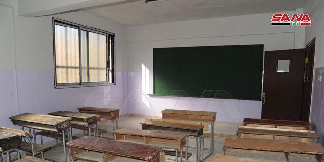 ريف دمشق… بناء وتأهيل 12 مدرسة وصيانة وتوسيع عدة طرق