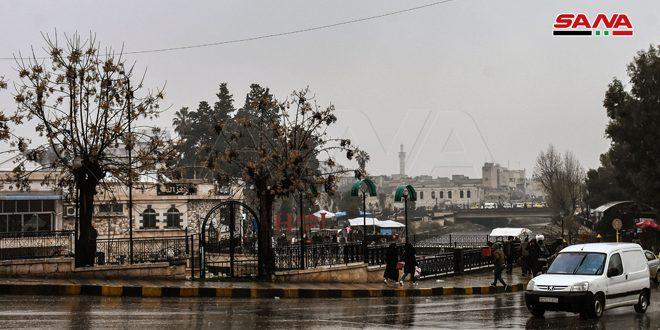 أمطار أغزرها 33مم في حمص.. انخفاض ملموس بدرجات الحرارة وثلوج متوقعة فوق 900متر