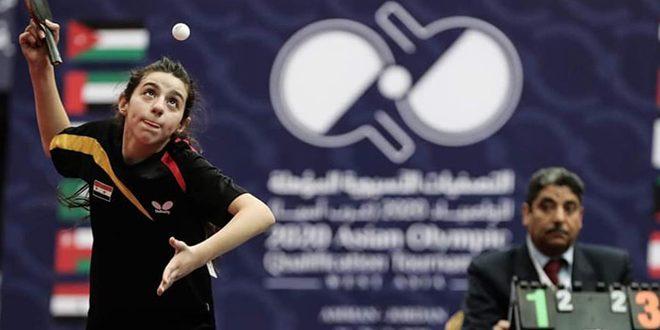 أيقونة كرة الطاولة السورية هند ظاظا تبصم بالذهب وتتأهل إلى الأولمبياد
