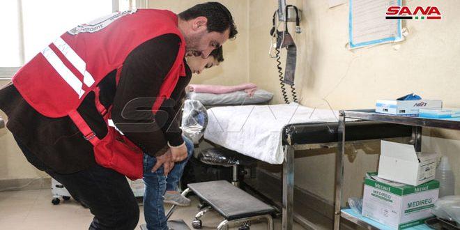 العلاج الفيزيائي الجوال للإصابات الحركية.. أحد برامج الهلال الأحمر في درعا