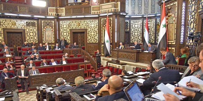 مجلس الشعب يوافق على عدد من مواد مشروع قانون تنظيم اتحاد غرف التجارة السورية
