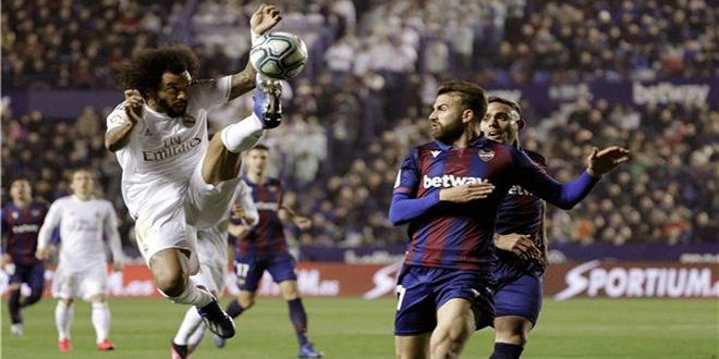 ريال مدريد يخسر أمام ليفانتي ويفقد صدارة الدوري الإسباني لكرة القدم