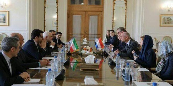 ظريف يبحث مع نظيره الهولندي الوضع في سورية والقضايا الثنائية