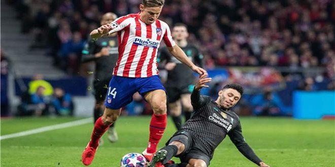 أتلتيكو مدريد يفوز على ليفربول في دوري أبطال أوروبا