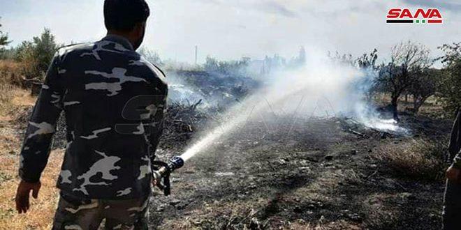 إخماد حريقين امتدا على مساحة 63 دونماً بالقنيطرة