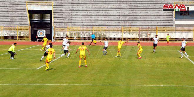 تشرين يحافظ على الصدارة رغم تعادله مع الجيش في المرحلة الـ 17 من الدوري الممتاز لكرة القدم