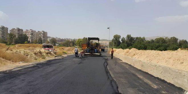 محافظة دمشق.. تزفيت طريق نهر عيشة ومدخل داريا على المتحلق الجنوبي